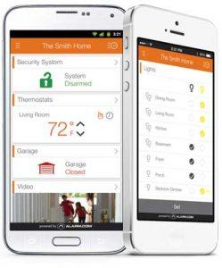 white smart home phone