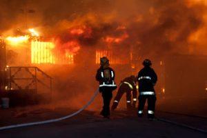 firemen responding to a fire